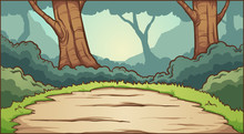 Forest Clearing Background. Ve...