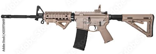 Fotografia Gun rifle isolated on white