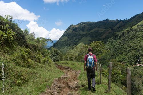 Randonnee Pres De Jardin Antioquia Colombie Buy This Stock Photo