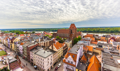 Aerial view. Old town of Torun. Poland