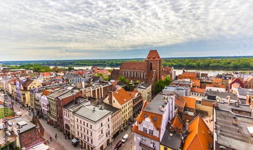 Cuadros en Lienzo Aerial view. Old town of Torun. Poland
