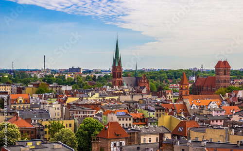 Fotografía Aerial view. Old town of Torun. Poland