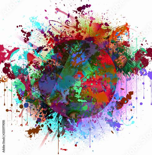 абстрактные магия красочный фон брызг