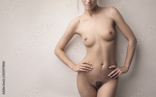 Stickers pour porte Akt Sensual naked body