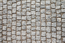 Top View Of An Old Cobblestone...