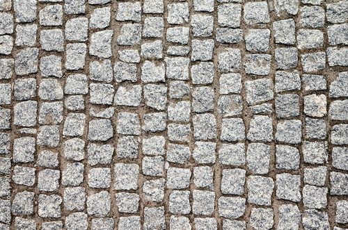 Canvas-taulu Top view of an old cobblestone street