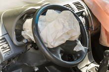The Airbag Of The Car Exploded In A Car Accident