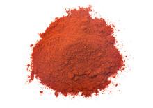 Powdered Paprika On A White Ba...