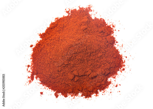 Fotografiet Powdered Paprika on a White Background