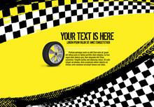 Grunge Checkered Racing Background