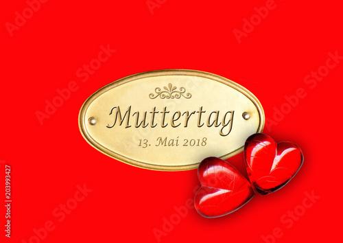 Obraz na plátně Muttertag 13. Mai 2018