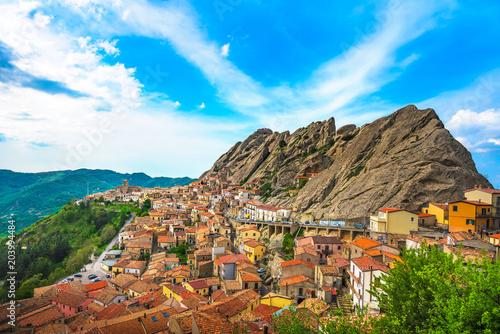 Pietrapertosa village in Apennines Dolomiti Lucane Canvas Print