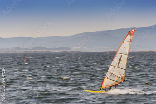Windsurfing in Arousa Bay