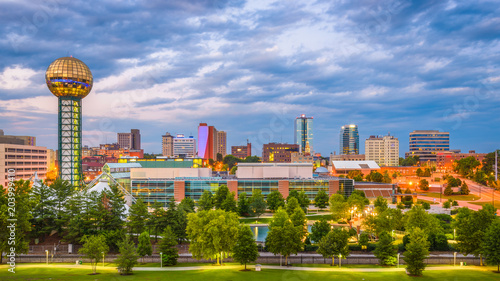 Staande foto Rotterdam Knoxville, Tennessee, USA Skyline