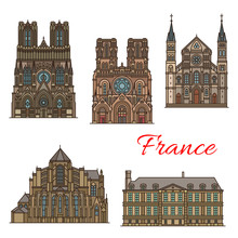France Travel Landmarks Vector...