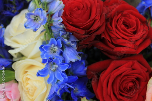 Red White And Blue Wedding Flowers Buy This Stock Photo And