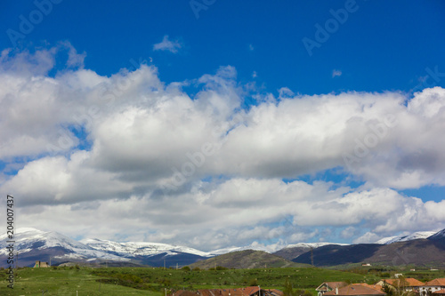 Foto op Aluminium Bleke violet The sky with clouds for Spanish lands, Leon