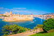 Saint Jean Castle and Cathedral de la Major and the old Vieux port in Marseille, France