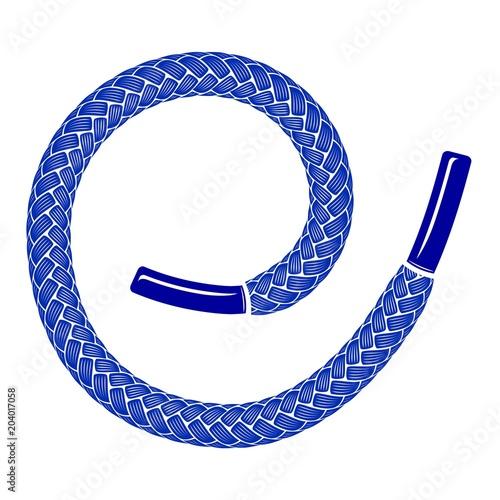 Blue shoelace icon, simple style Tableau sur Toile
