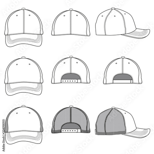 Stampa su Tela  Vector template of a baseball cap