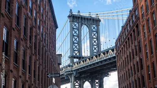 Poster Brooklyn Bridge Manhattan bridge from Dumbo, Brooklyn