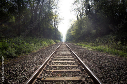 Canvas Prints Railroad train track