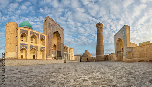 Carta da parati Panoramic view of Poi Kalan - an islamic religious complex located around the Ka