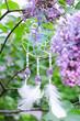 Purple lilac bush and crochet handmade accessories