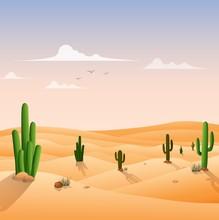 Desert Landscape Background Wi...