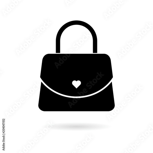 Women handbag icon Canvas Print