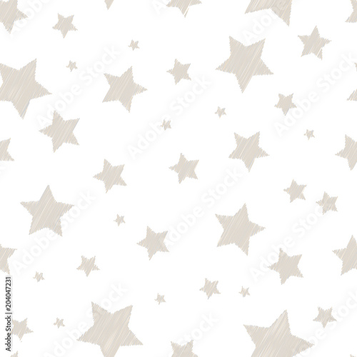 Srebro kolorowe proste haftowane gwiazdki na biały ładny wzór dziecinna, wektor