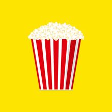 Cinema Concept Vector Popcorn Illustration