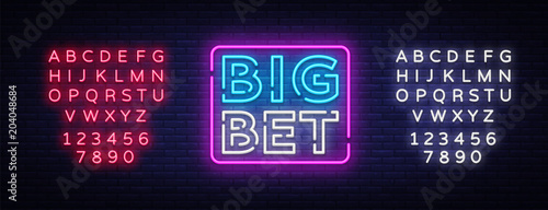Big Bet Neon sign vector Fototapeta