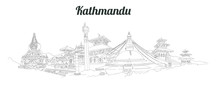 KATHMANDU City Panoramic Vecto...
