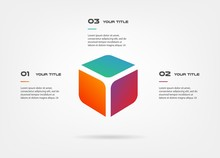 3d Blocks Infographics Step By...