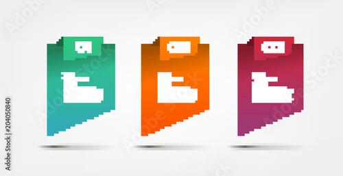 Fotografia  Gradient infographics step by step