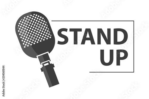 Fotografija  professional microphone. stand up logo