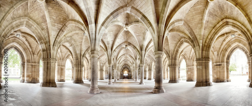 Glasgow University Cloisters panorama Wallpaper Mural