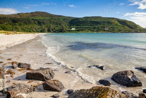 Fotografie, Obraz Beach of Calgary Bay Isle of Mull Argyll and Bute Scotland UK