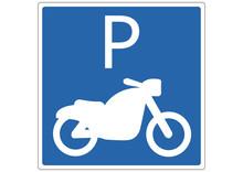 Schild Motorradparkplatz