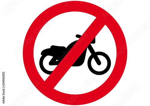 Cuadros en Lienzo  Schild Motorrad verboten