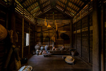 Beautiful Of Kitchen Room Thai Architecture Style Traditional Wooden House.