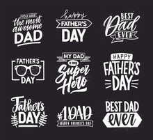 Happy Fathers Day Lettering Ca...