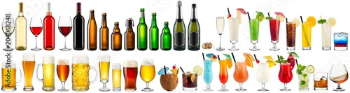 Tela  huge collection set of beverage alcoholic drinks cocktails champagne wine beer b