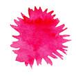 Watercolor pink splash for design