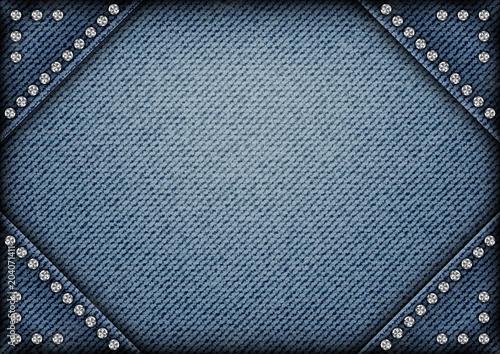Obraz na plátne Jeans frame with spangles