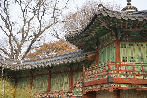 Tuinposter Bali Changdeokgung Palace or Changdeok Palace, is a large park in Jongno-gu, Seoul, South Korea.