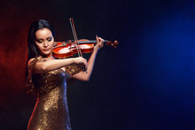 Violinist Girl Performs On Sta...