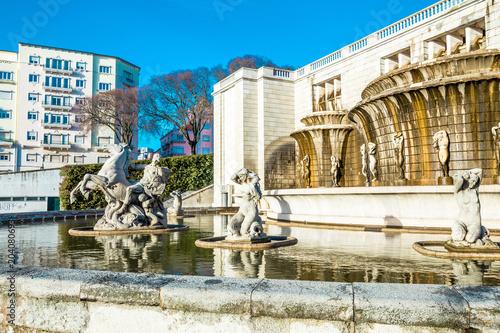Lisbon, Fonte Luminosa in Garden Alameda Dom Afonso Henriques