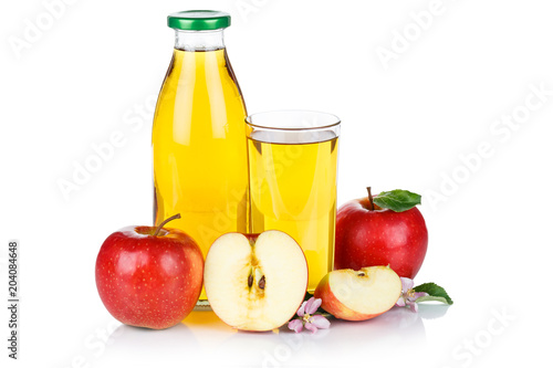 Papiers peints Apfelsaft Apfel Saft Äpfel Flasche Fruchtsaft freigestellt isoliert